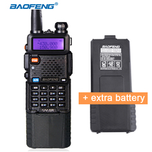 Portable UV 5R Radio with Extra Battery Baofeng UV-5R 3800mAh powerful Walkie Talkie Dual Band CB Ham Communicator