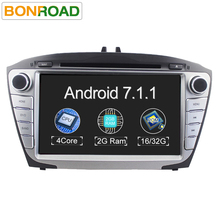 8' 2G RAM Quad Core 1024*600 Android 7.1 2Din Car DVD For Hyunda IX35 Tucson 2009-2015 Car Radio RDS Video Player GPS Navigation(China)