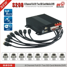 4G real time video and audio transmission 8ch h 264 dvr  RJ45 gps mobile dvr recorder , DTY S208-4G