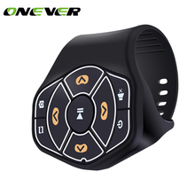 Wireless Bluetooth Steering Wheel Remote Controller Media Button Remote Control Multimedia for iphone Tablet Car Motorcycle bike(China)