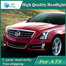 Car Styling Head Lamp case for Cadillac ATS ATS-L Headlights LED Headlight DRL Lens Double Beam Bi-Xenon HID car Accessories