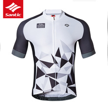 Buy Santic Cycling Jersey Men Short Sleeve Summer 2017 Bicycle Bike Top Shirt Clothes Breathable MTB Road Riding Sportswear for $33.88 in AliExpress store