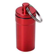 Portable Waterproof Box Aluminum Alloy Pill Medicine Storage Case Holder Container Capsule First Aid Key Ring Keychain Hot Sell(China)