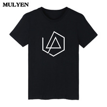 2017 Summer Latest RIP Chester Bennington Linkin Park Broken Logo Design Short Sleeve T Shirt Large Size Camisa Masculina(China)