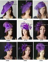 NEW Purple Sinamay Fascinator hat for Races Wedding.FREE SHIPPING