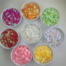 500Pcs 13mm Red Pink Green Yellow White Shell Shape Sequins Sewing Paillette Diy Garment Accessories Craft Christmas Decoration(China)