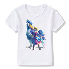ChildrenThe Legend Of ZELDA Triforce Logo Print Funny T-shirts Baby Kids Summer Tops Tee Boys/Girls Fashion Anime Clothes,HKP425