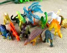 12pcs BOHS Little Wild Forest Animal Plastic Jurassic Animal Dinosaurs Model Action Toy Figures(China)