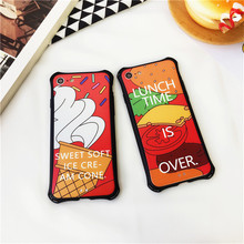 New Miller Mixed Flexible Rubber Emboss Phone Cases For iPhone 6 7 Colorful Chips Hamburger Western-Style  -090109