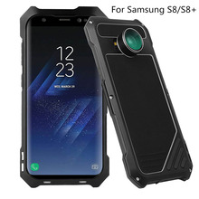 Metal Powerful Water/Dirt/Shock Poof Case For Samsung  Galaxy S8 Case Aluminium Armor Cover With Wide-angle lens for S8 Plus