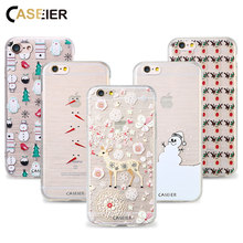CASEIER Winter Phone Case For iPhone 7 8 Plus Cases Soft TPU Christmas Winter Cover For iPhone 7 8 Plus Silicone Shell Capa Case(China)