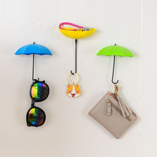 3pcs/lot Plastic Creative Hooks Umbrella Modeling Seamless Wall Hooks For House Kitchen Debris Storage Placed Small Objects