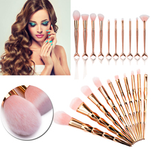 Elailite 7/10Pcs Diamond Shape Makeup Brushes Set Beauty Cosmetic Eyeshadow Lip Powder Face Pinceis Tool Kabuki Brush Kits Pince(China)