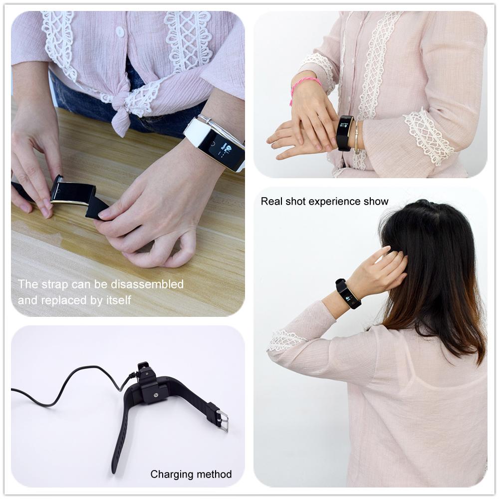Waterproof Android Pedometer + Blood Pressure & Heart Rate Monitor Wrist Watch 17