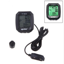 New Waterproof BoGeer Bicycle Accessories Imported Sensors LCD Backlit Bicycle Speedometer Odometer Computer YT-823