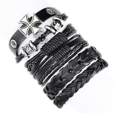 (5pcs/lot) Retro men rope leather hand woven bracelet for women rope braided bracelet male female bracelet Jewelry(China)