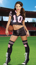 free ship black hot World Cup football Cheer baby cheerleader sexy skirts lala gym dancer clothes sports jersey ladies costume