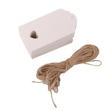 100pcs 10.5*5.5cm Hollow Heart Scalloped Kraft Paper Card / Wedding Favour Gift Tag / DIY Tag /Price Label with 10M Rope