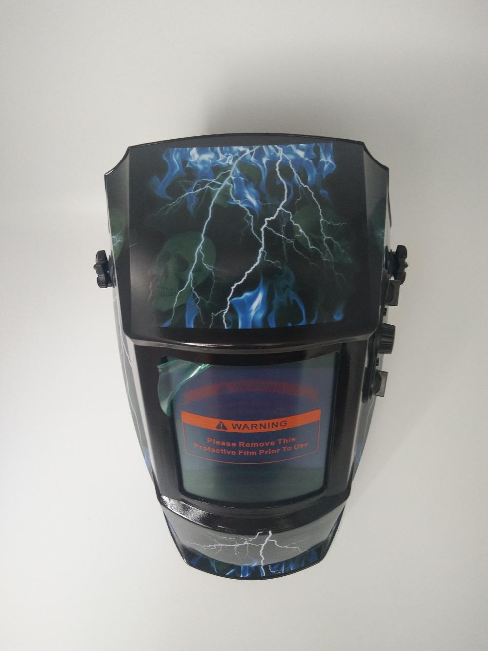 blue lightning Solar auto darkening welding/grinding mask/helmets/welder cap/welding lens