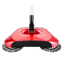 Ship from RU Sweeping Machine Push Type Hand Push Magic Broom Dustpan Handle Household Cleaning Package Hand Sweeper(China)
