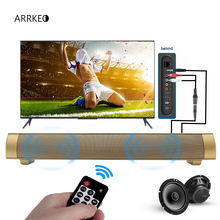 ARRKEO 10W Wireless Bluetooth Speaker Slim Player SoundBar Loudspeaker Speakers Sound Bar With Remote Control For TV PC Phone