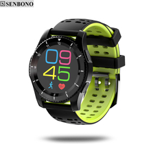 SENBONO GS8 Sport bluetooth smart watch support blood pressure heart rate sim card for IOS Android