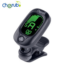 New Arrival Cherub WST-2046BD Clip-On Clip Tuner Digital Guitar Adjustable Black Tuner For Guitar Ukulele Bass Violin Tuning(China)