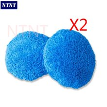 NTNT Free Shipping 4 pcs/2 double Set Blue hobot168 hobot188 window cleaning robot cleaning cloth