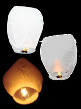 50pcs White Sky Fire Chinese Lanterns Flying Paper Wish Balloon for Wedding Festival Christmas Party Outdoor Flying Fire Lamps(China)