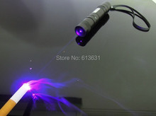 1w 1000mW 405nm High Powered Focusable Violet Blue Laser Pointer/ UV Purple Laser Torch Burn Matches & Light Burn Cigarettes