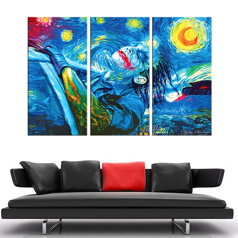 Large abstract Canvas Printings 3 Piece Modern Style Cheap Pictures Decorative Wall Art Framed Prints Gift posters and prints(China (Mainland))