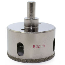 "60 mm 2-3/8"" inch Diamond Hole Saw Granite Drill Bit Coated Masonry Drilling Cutter Tools for Stone Marble Glass Ceramic Tile"