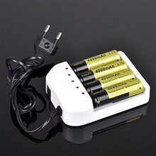 2017 New Universal i4 Intelligent Li-ion/NiMH 18650/26650/AA/AAA Battery Charger Wiht 4 Output EU Plug