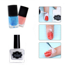 BORN PRETTY Liquid Tape Cream White Pink Blue Peel Off Finger Skin Protected Glue Nail Art Polish Easy Clean Nail Oil Gel(China)