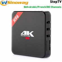 Free Arabic Iptv Box android TV H96 Support arabic channels iptv box Europe French Germany Italy English EXYU Turkey IP TV Box