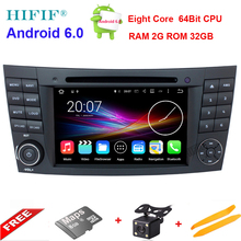Octa Core Android 6.0 Tablet PC 1024*600 Car DVD Player For Mercedes/Benz E Class W211 W209 W219 GPS WIFI 3G 2GB RAM Head Unit(China)