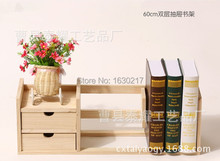 Universal primary study end fashion pine table and scalable storage shelf bookcase bookcase desk Direct(China)