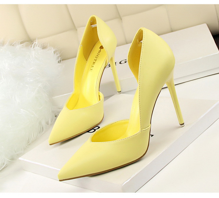 Women Pumps Fashion High Heels Shoes Black Pink Yellow Shoes Women bridal Wedding Shoes Ladies 20
