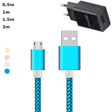 0.5m/50cm/Short/1m/1.5m/2m/Long Micro USB Charging Cable Charger for Xiaomi Redmi 5/Plus/5A/Note 4/4x/3/Galaxy s7/s6/Xperia XA(China)