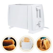 Household 2 Slice Plastic Electric Bread Toaster Stainless Steel Multi Function Breakfast Bread Toaster Oven 220V EU Plug(China)