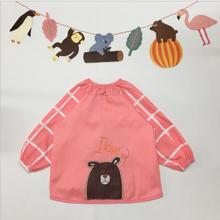 Cute Embroidery Cartoon Waterproof Apron Child Painting Eating Kids Apron Children School Playing child Aprons Tablier Enfant(China)