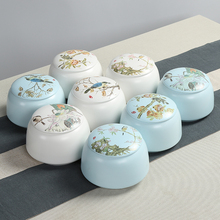 8 styles mini tea pot Blue and white porcelain tea storage jar tea caddy container ceramic jar kitchen canister set with lid