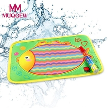 Baby Kids Water New Drawing Painting Picture Writing Mat Board & Non-toxic Magic Pen aqua doodle Toy Christmas Gift 29 x 19cm