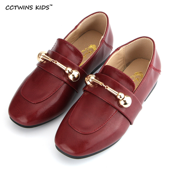 CCTWINS KIDS otoño boy marca negro zapato mocasín de cuero genuino niña moda infantil niño plana slip-on deslizador G822