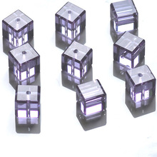 Factory Big Sales 100pcs Faceted CUBE CRYSTAL glass loose BEADS 8x8mm Jewelry & Accessories>>Fashion Jewelry>>Beads