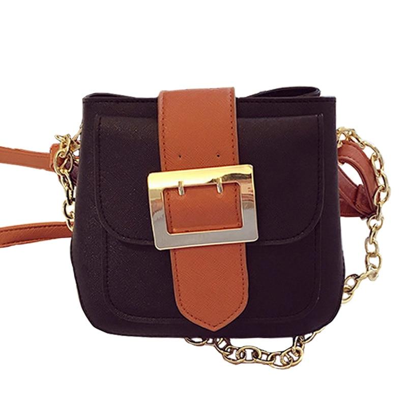 2017 NEW women leather flap bag fashion rivet chain handbags high quality sac de marque crossbody shoulder bags bolsas XA671B<br><br>Aliexpress