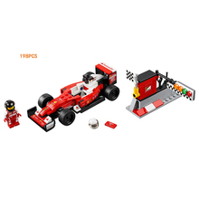 New Car-styling Speed Champion FIA F1 World Championship SF16-H racing building block racer figure compatible lego75879 boy toys