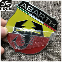 1pcs/lot automobile accessories car body styling stickers with FIAT 500 abarth logo emblem badge