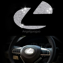 Car steering wheel emblem 3D sticker cover for Lexus ES NX RX (3 colors options)(China)