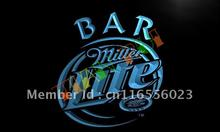 LA406- Miller Lite Bar Beer LED Neon Light Sign(China)
